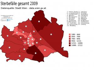 Abbildung 6: Beispiel einer mit DataMaps.eu erstellten Karte [Quelle: http://www.datamaps.eu/wp-content/uploads/2011/06/20110603-Sterbef__lle_gesamt_2009-Datenquelle__Stadt_Wien___data_wien_gv_at-1.png am 01.10.2012]