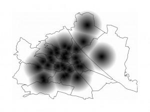 Abbildung 8: Darstellung der Entfernung zum nächsten Krankenhaus [Quelle: http://farm3.static.flickr.com/2048/5758783776_9ba0a36cfd_b.jpg am 01.10.2012].